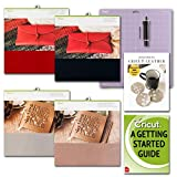 Cricut Genuine Red, Black, Silver and Gold Leather Sheets with Blade and Strong GripMat Bundle (Color: Multi, Tamaño: 12-x-12-Inch)