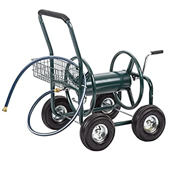 Water Hose Reel Cart 300 FT Outdoor Garden Heavy Duty Yard Water Planting Cart