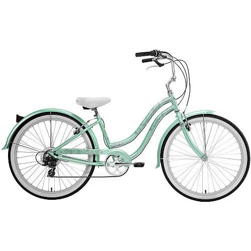 Nirve Beach Blossom Ladies 7 speed Bicycle (Green)