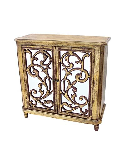 Teton Home Wood Cabinet, Gold