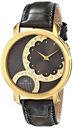 Carlo Monti CM802-290 - Reloj de cuarzo para mujer, correa de cuero color gris