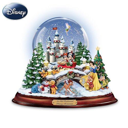 人気キャラクターが勢揃い!★ディズニークリスマス ミュージカルスノーグローブ  Bradford Exchange社【並行輸入】