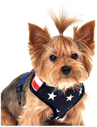 Anit Accessories Stars and Stripes American Flag Mesh Harness, X-Small, Blue