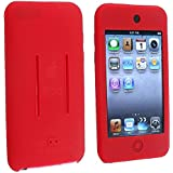 eForCity Red Soft Silicone Skin Case Shield for iPod touch 1/2/3G