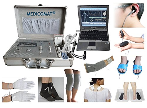 Health Analysis Function Software Medicomat-291F Therapy Gloves Socks Wristlet Knee Elbow Pads Conductive Ear Hand Foot Electrodes Treatment