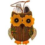 Owl Silverware Holder - Orange