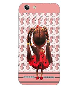 PrintDhaba Cute Doll D-3217 Back Case Cover for LENOVO A6020a46 (Multi-Coloured)
