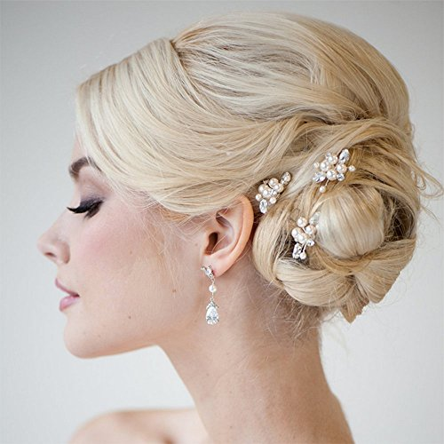 Venusvi Bridal Wedding Hair Pins for Women and Girls (Pack of 3)