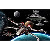 Akhuratha Designs Movie Star Wars Star Destroyer X-wing HD Wall Poster