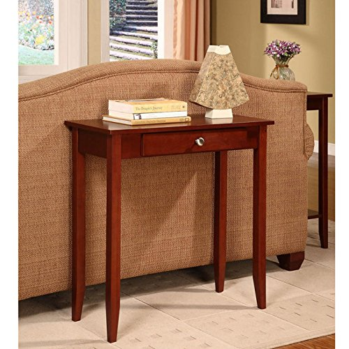 dhp rosewood tall sofa table dark cherry stain wood console table dhp ebay. Black Bedroom Furniture Sets. Home Design Ideas