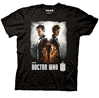 Doctor Who Day Of The Doctor Mens Black T-Shirt | M