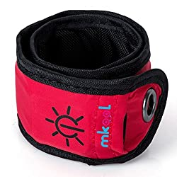 MKOOL Pack of 2 LED Safety Slap Armband for Running Cycling Jogging or Walking At Night red