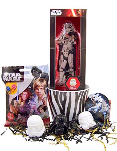 Star Wars Easter Basket with Stormtrooper Chocolate Bar and Assorted Candy and Eggs