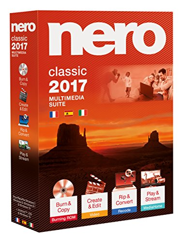 Nero 2017 Classic - Software - 3 Lenguages (Spanish, Italian and French Edition)