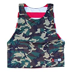 American Flag and Camo Sublimated Reversible Lacrosse Pinnie