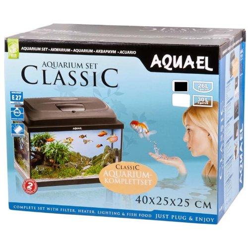 Aquael-Aquarium-CLASSIC-40er-Set-gewlbtoval-schwarz
