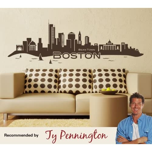 Wall spirit boston skyline wall decals for Amazon wall mural