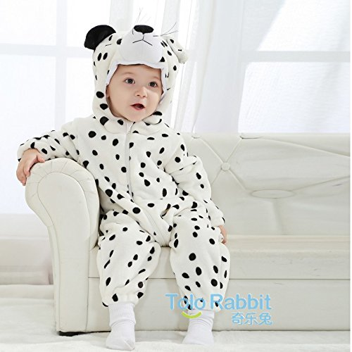 Wheat's baby home ® Unisex Baby Costume Snow Leopard Overall Romper