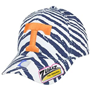 NCAA Tennessee Volunteers Top of the World Smash Zubaz Zebra Flex Fit Hat Cap