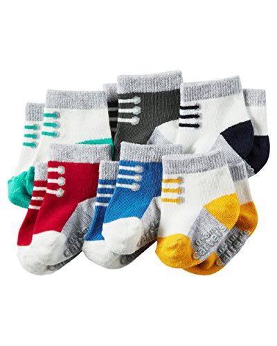 Carter's Baby-Boys Socks, Laces, 12-24 Months (Pack of 6)