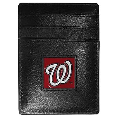 MLB Washington Nationals Leather Money Clip/Cardholder