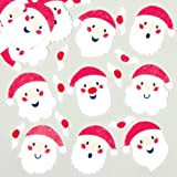 Santa Felt Stickers for Children to Decorate Christmas Cards Crafts and Collage Pack of 90