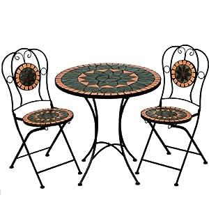 Mosaiksitzgarnitur terracotta 2x stuhl 1 for Amazon tisch
