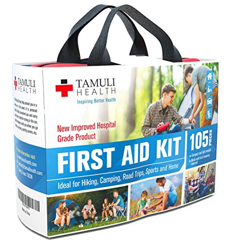 Tamuli-Health-First-Aid-Kit-105-Piece-Fully-Stocked-Medical-Supplies-and-Emergency-Survival-Bag-for-Car-Travel-Hiking-Camping-Sports-Home-Hospital-Grade