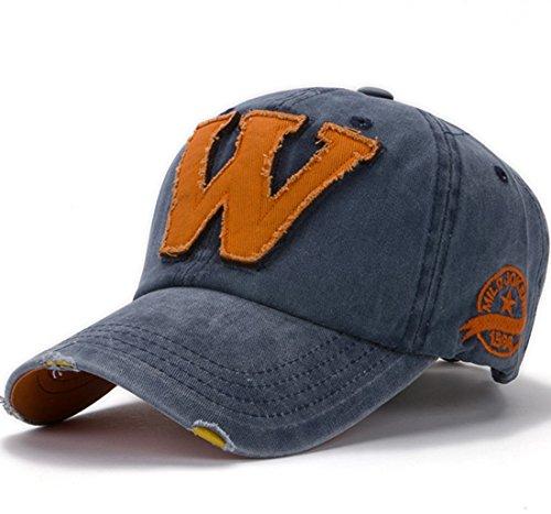 Thenice Cappellini da baseball Unisex Regolabile Berretto Cap (Blu navy)
