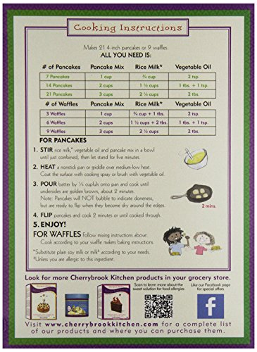 Cherrybrook Kitchen Gluten Free Pancake Waffle Mix 18 Oz Food Beverages Tobacco Food Items