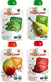 Happy Baby Organic Baby Food Stage 1 Starting Solids Variety Pack, 16/3.5 oz
