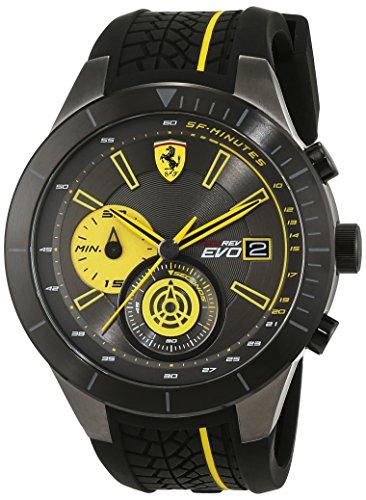 Scuderia Ferrari OROLOGI Hombre Reloj de pulsera redrev Evo analógico de cuarzo silicona 0830342