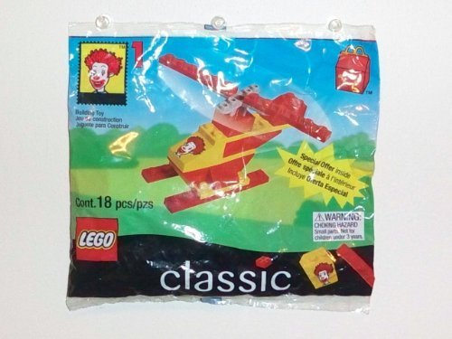 1999 McDonald's Happy Meal Toy- Lego Classic (2032) Ronald McDonald's Helicopter #1 - 1