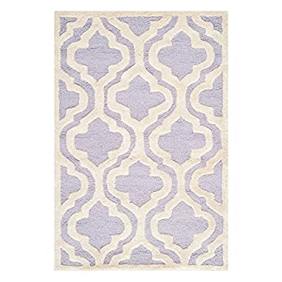 Safavieh Cambridge Collection CAM132A Handmade Light Blue and Ivory Wool Area Rug
