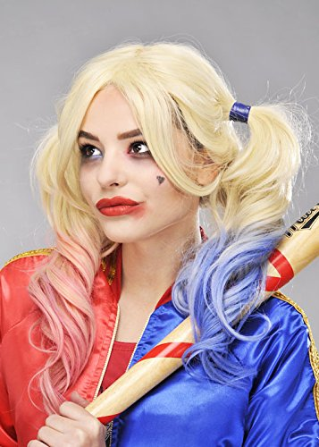 Suicide Squad stile Harley Quinn parrucca