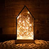 Kohree 120 Micro LED String Lights on 20 Feet Copper Wire - Seasonal Decor Rope Lights for Festival - Christmas - Wedding - Holiday and Party With UL certified 3.5V Power Adapter Warm White