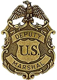 ukgiftstoreonline Gold Coloured Eagle Us Deputy Marshall Law Enforcement Badge Solid Metal