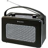 Roadstar TRA-1958/BK Radio Portable de Design Retro Vintage Tuner PO/FM Noir