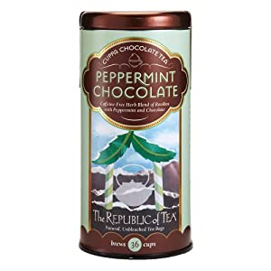 The Republic Of Tea Peppermint Cuppa Chocolate Tea, 36 Tea Bags, Rooibos Tea Dessert Blend by The Republic Of Tea