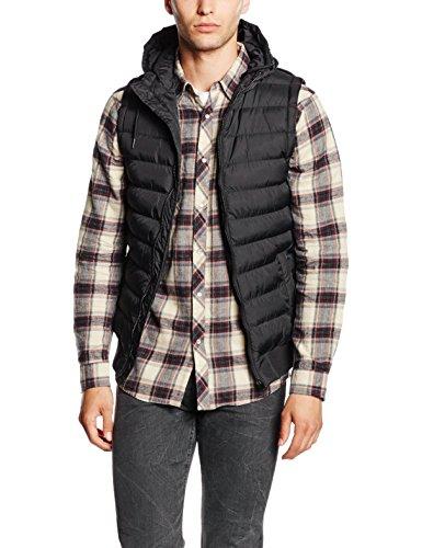 Urban Classics Small Bubble Hooded Vest, Gilet Trapuntato Uomo, Schwarz (Blk/Blk 17), XX-Large