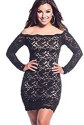 Ruby Womens Polyester Dress (Club-37 _Black _Standard)