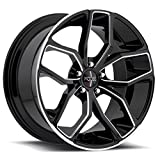 Foose F150 Outcast 20x8.5 5x120 +35mm Black/Machined Wheel Rim (Color: Gloss Black with Milled Accents, Tamaño: 20