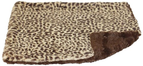 The Dog Squad Minkie Binkie Square Pet Blanket, 16.5 By 16.5-Inch, Brown Cheetah
