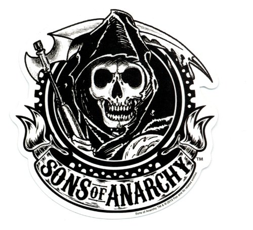 Sons Of Anarchy Sons Reaper Black Sticker