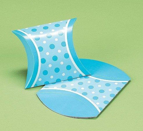 Baby Boy Mini Favor Pillow Boxes (24PC)