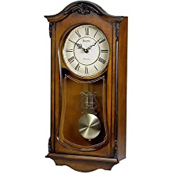 Bulova C3542 Cranbrook Old World Clock, Walnut Finish