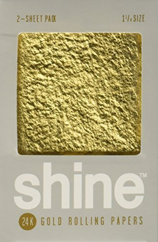 Shine 24K Gold Rolling Papers 2 Sheet Pack by Shine