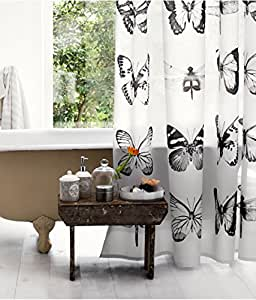 wasserabweisender duschvorhang aus stoff motiv. Black Bedroom Furniture Sets. Home Design Ideas