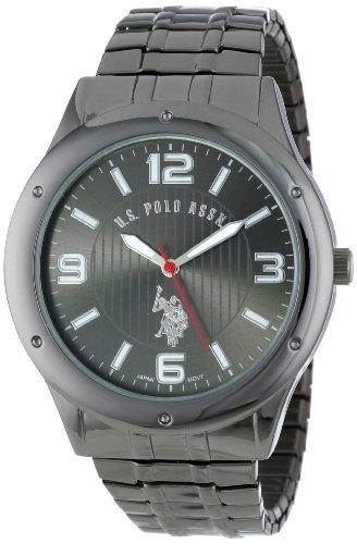 U.S. Polo Assn. Classic Men'S Usc80015 Oversized Gunmetal Black-Dial Expansion Watch