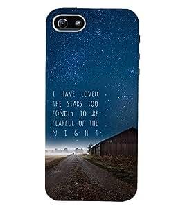 PrintVisa Quotes & Messages Stars 3D Hard Polycarbonate Designer Back Case Cover for Apple iPhone 5 :: 5S